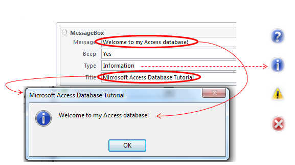 Using The Message Box in VBA And Access Macros