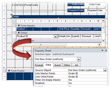 Working With Access Form Subform Controls