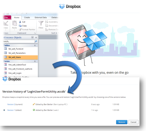 Using DropBox: Storing Your Microsoft Access Database Online