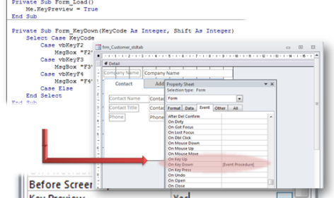 controlling keyboard events Archives - Access Database Tutorial