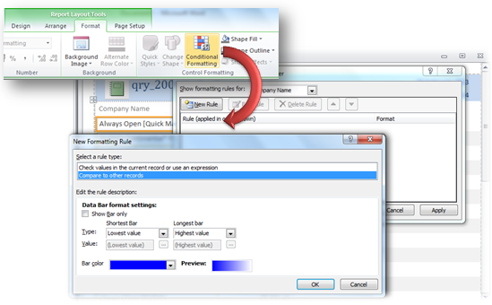 Access Conditional Formatting - Access Database Tutorial