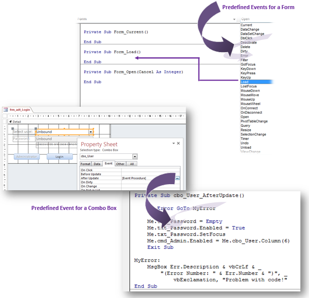 Access VBA Events: What Are Events And How Do We Use MS