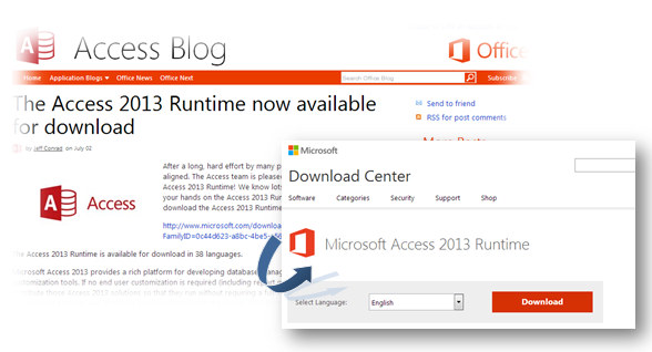 microsoft access runtime version download