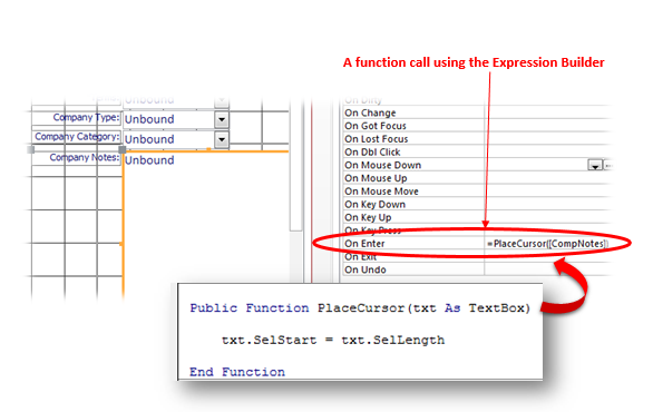 MS Access Database Forms: Using The SelStart And SelLength Properties