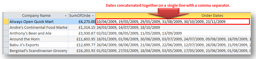 Concatenating Multiple Rows Into Single Line In MS Access