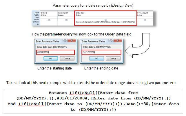 Access Queries - Parameter - ebook page sample