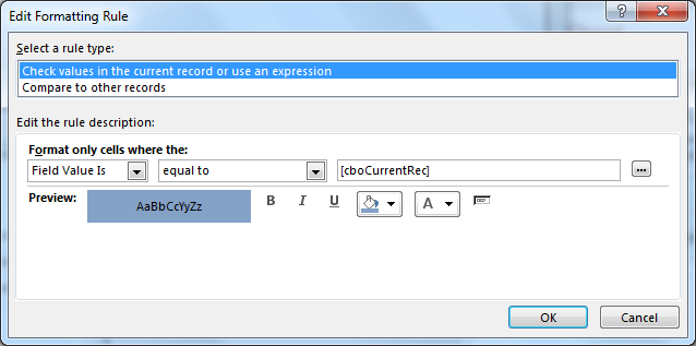 Microsoft Access Form : Highlight Current Record For A Continuous Form