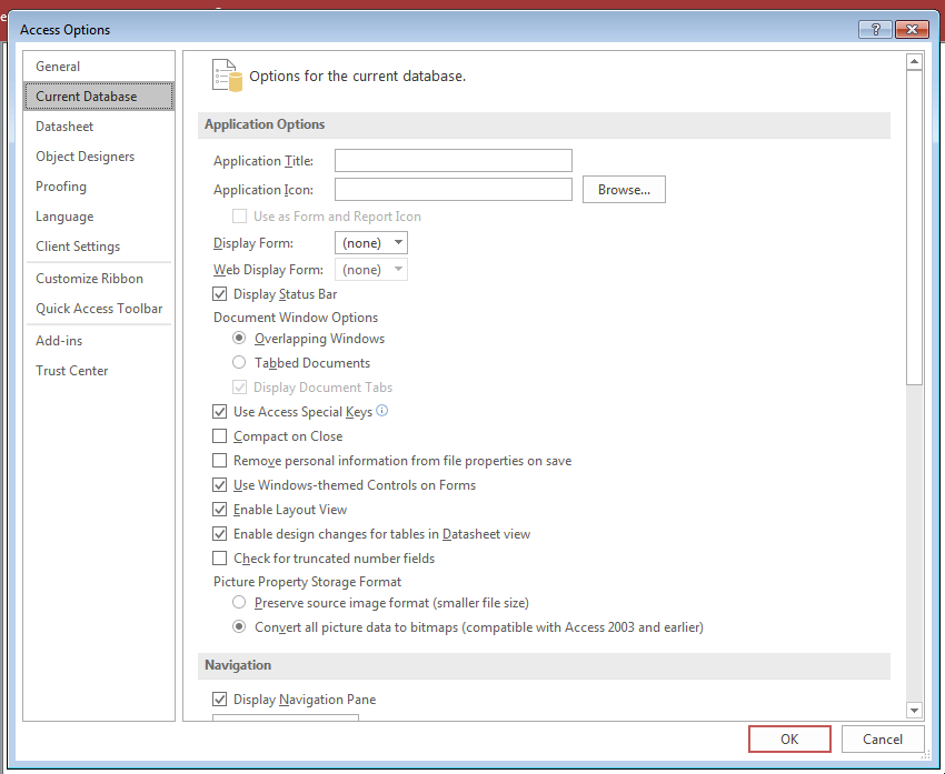 MS Access Database Images: How To Correctly Handle Them