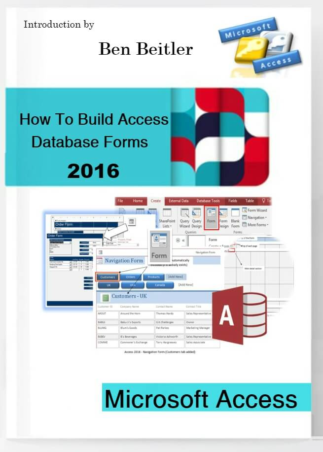 How to Build Access Databse forms 2016