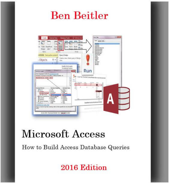 How to Build Microsoft Access Queries 2016 eBook