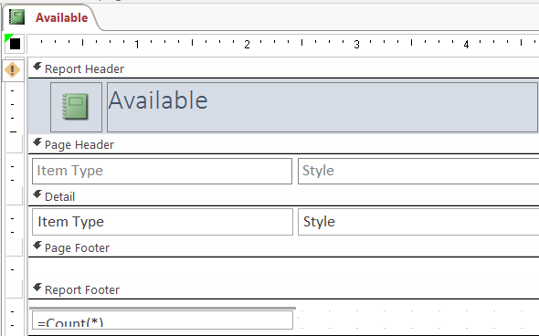 Insert Date and Time into the Header and Footer Sections of MS Access