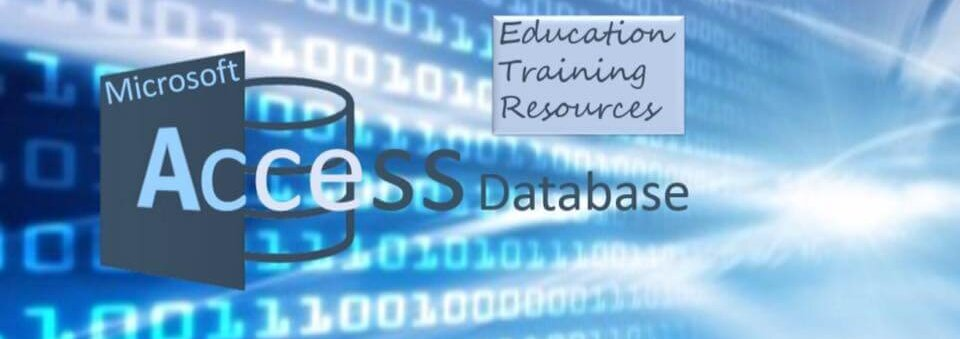 Microsoft Access Database Blue Banner